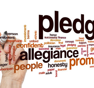 Pledge word cloud